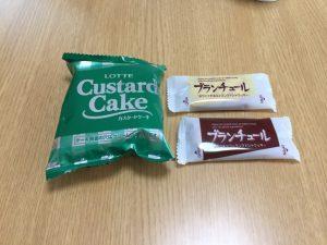 ロッテカスタードケーキとブランチュール