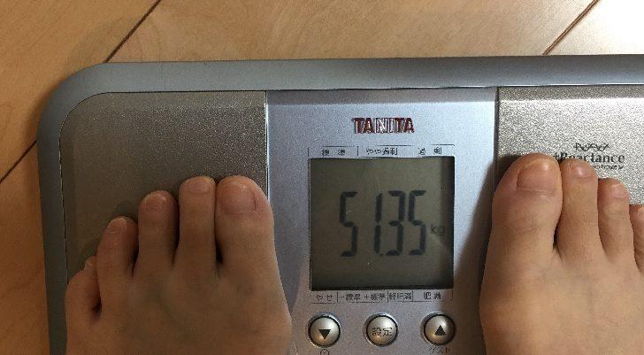38歳子持ち主婦の体重51.3kg