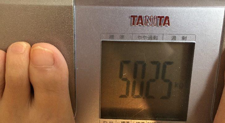 38歳子持ち主婦の体重50.25kg