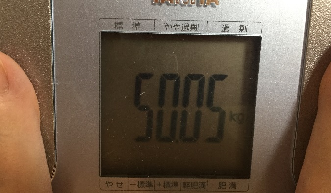 38歳子持ち主婦の体重50.05kg