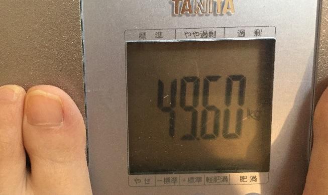 38歳子持ち主婦の体重49.6kg