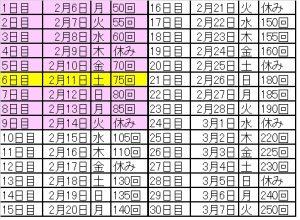 30日スクワットチャレンジ9日目