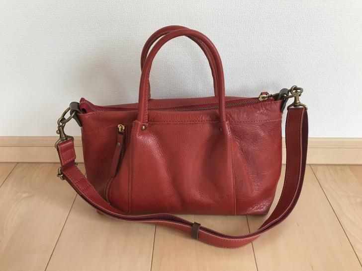 赤色の2WAYバッグ